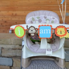 Monkey High Chair Ps4 And Lion Birthday Banner By