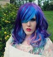 electric mist wig blue purple