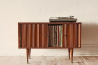 Mid Century Record Cabinet Storage