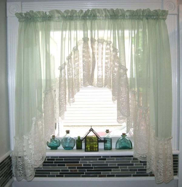 Light Green Kitchen Curtains