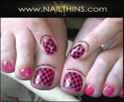 scacchiera nail decal checkerboard