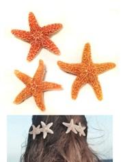 mermaid hair starfish clips