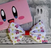 nintendo kirby hair bow tie