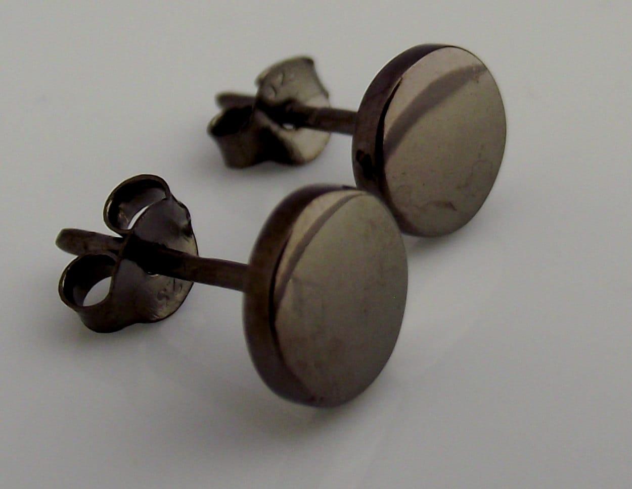 Mens Earrings Black Stud Earrings for Men Nail It Down