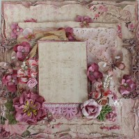 Premade 12x12 Shabby Chic Scrapbook Layout Authentique