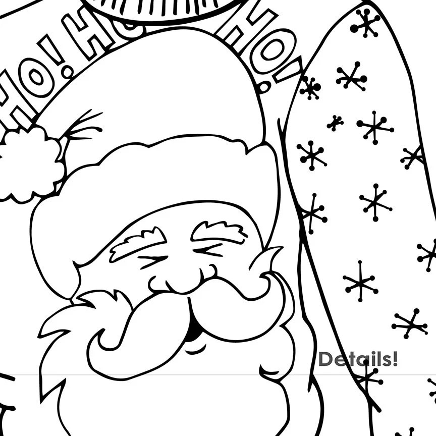Christmas Ugly Sweater Line Art Coloring Images by FishScraps