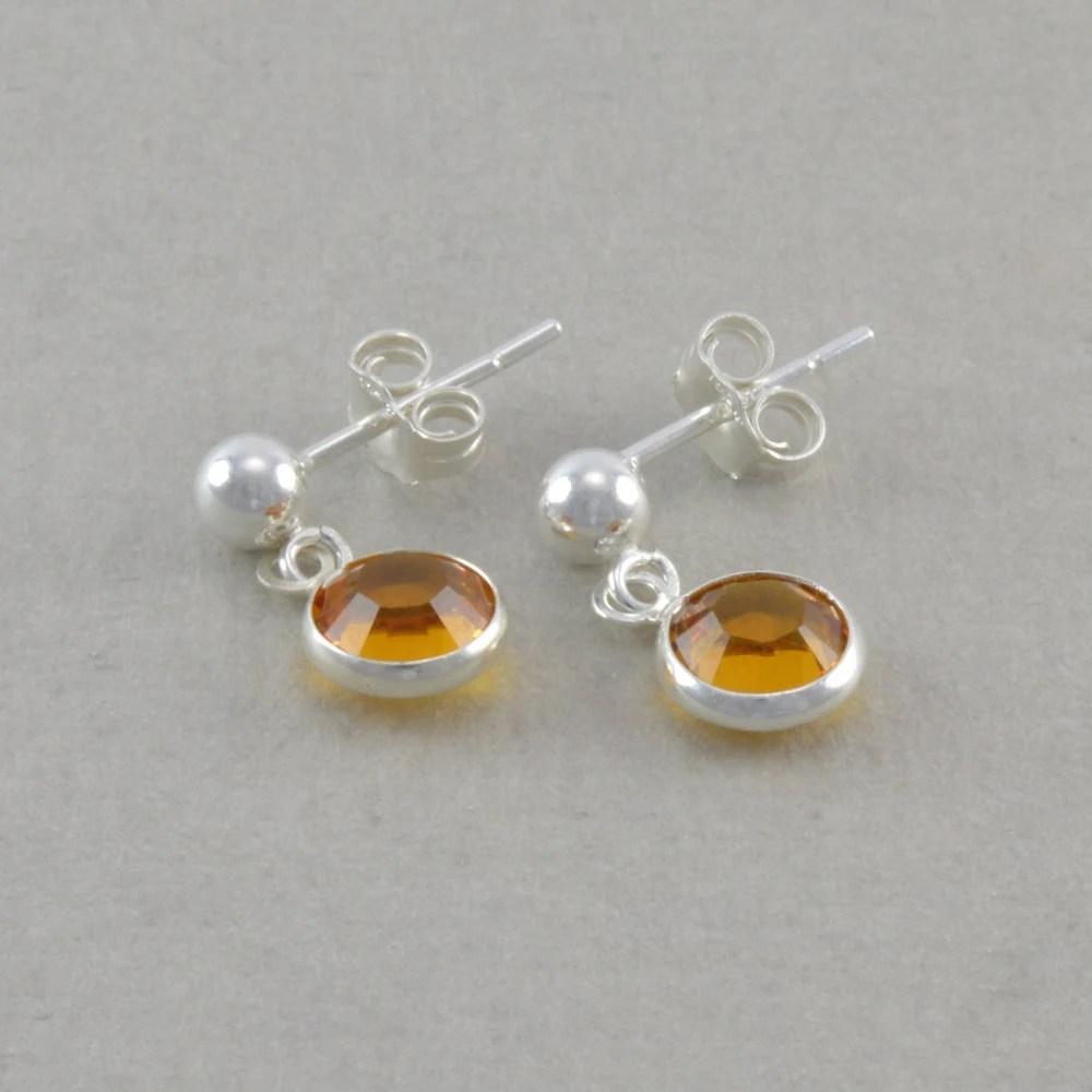 Items similar to November Birthstone Earrings. for Little