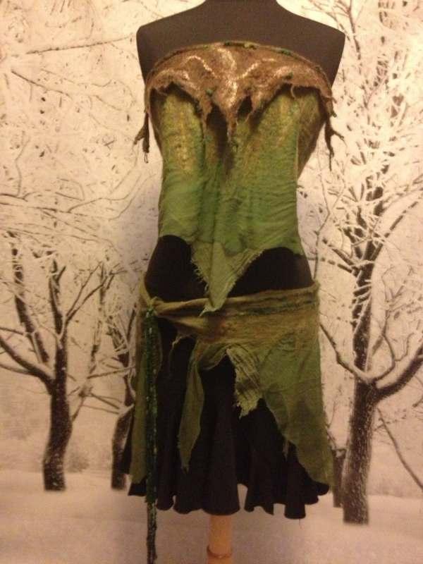 Willow Dryad Faerie Wear Nuno Felt Wrap Skirt And Halter Pixie