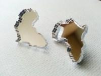 Africa Earrings Africa Shaped Earrings Africa Shaped Studs