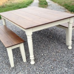 Farmhouse Table And Chairs With Bench Round Chair A Half Swivel Farm Style Storage Home Decorating Ideas