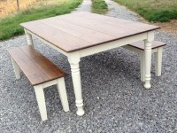 Farm Style Table With Storage Bench - Native Home Garden ...