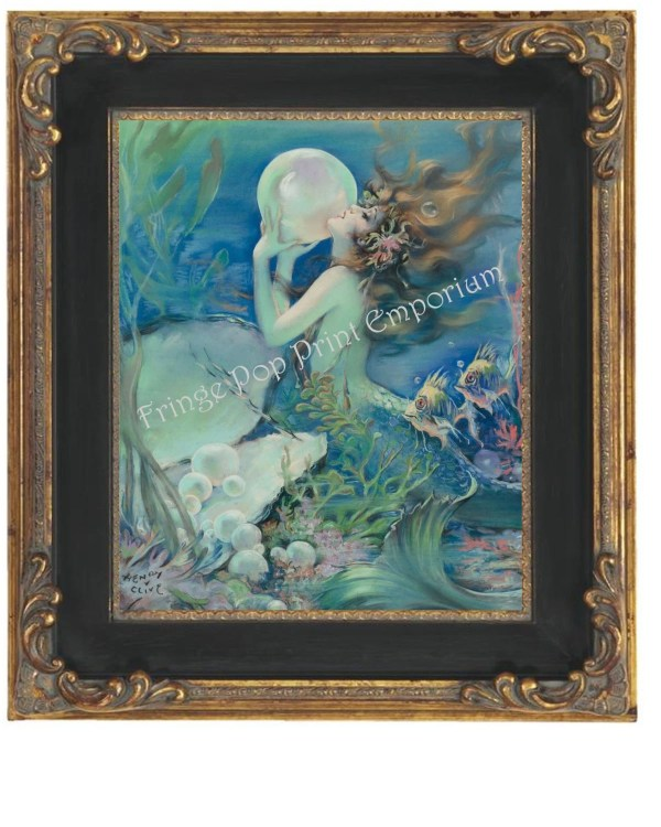 Art Deco Mermaid Print