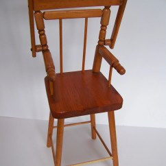 Vintage Wood High Chair Habitat Dining Room Covers Wooden Doll