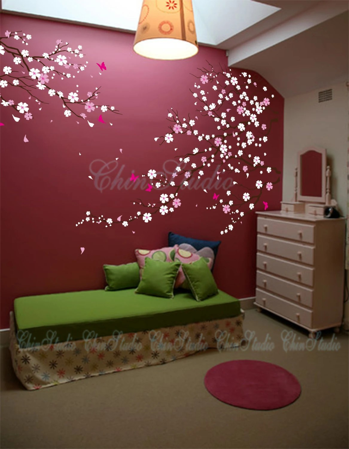 listing tree wall decal baby girl nature tree