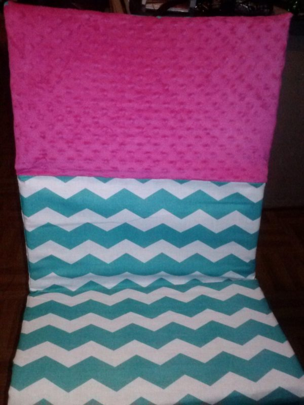 Teal And Hot Pink Chevron Kinder Mat Nap Cover