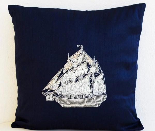 Navy Blue Decorative Throw Pillows