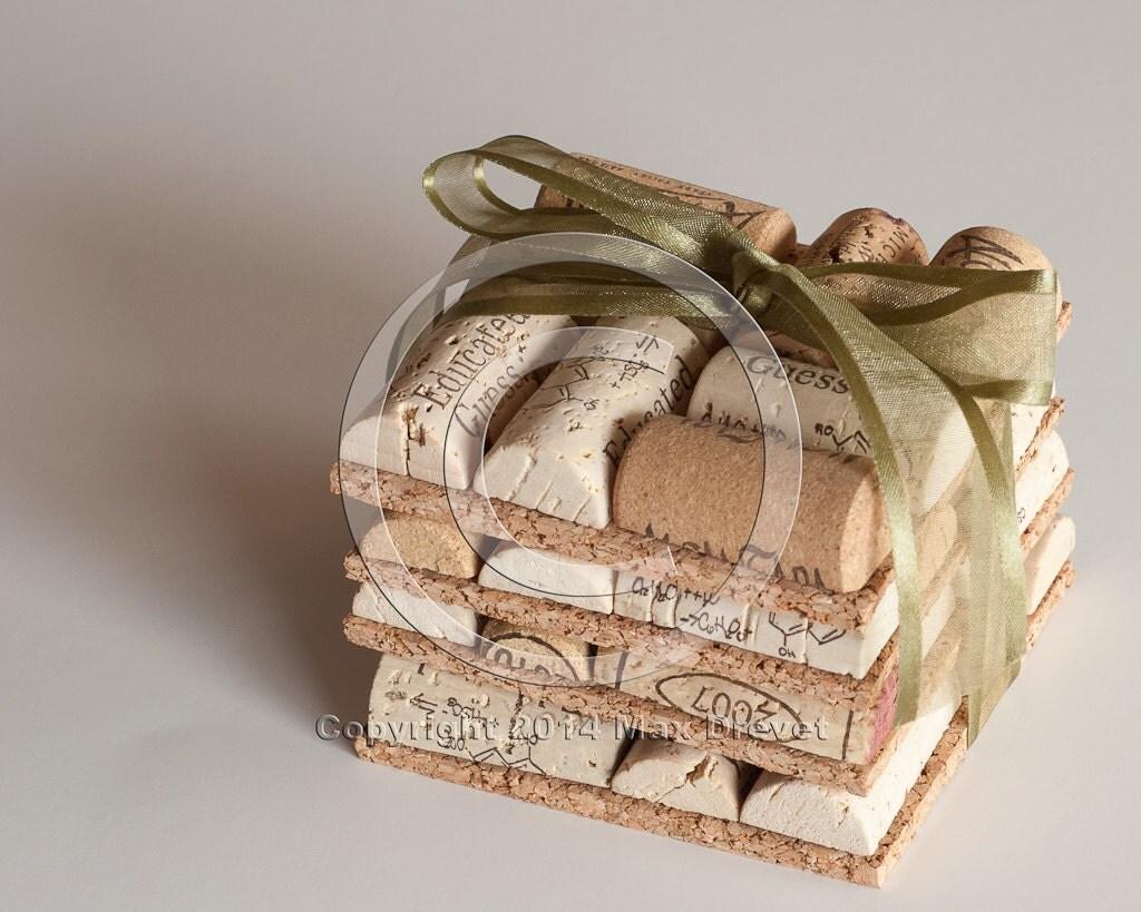 Wedding Favors Wine Cork Coasters Set Of 4 Wine Cork Crafts