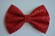 red sequin hair bow big