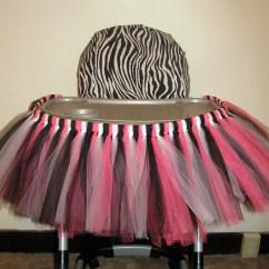 Hello Kitty High Chair Single Bed Sleeper Tutu Highchair Skirt Zebra Birthday Temporary