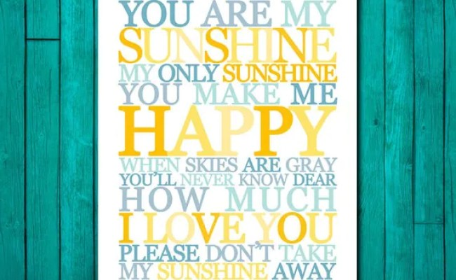 You Are My Sunshine Wall Art Childrens Nursery Decor You Are