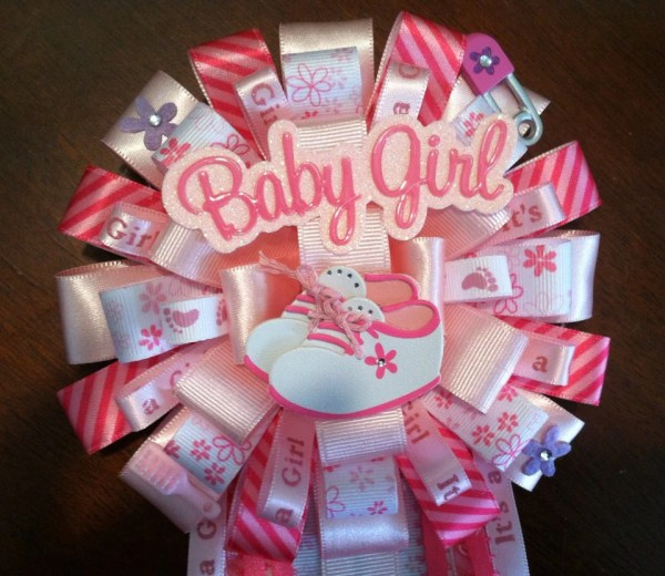 Girl Baby Shower Corsage