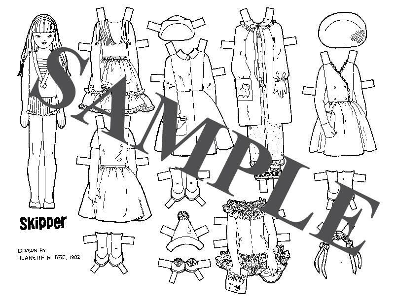 Paper Doll _ Vintage Barbie's SKIPPER Friends Dolls _ B