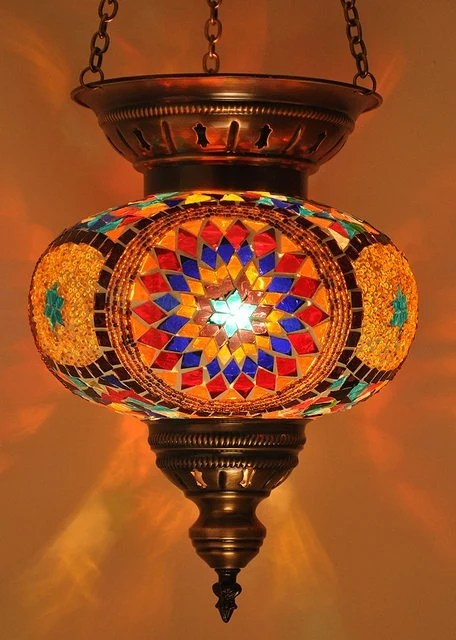 Items similar to Hanging Stained Glass Mosaic Turkish
