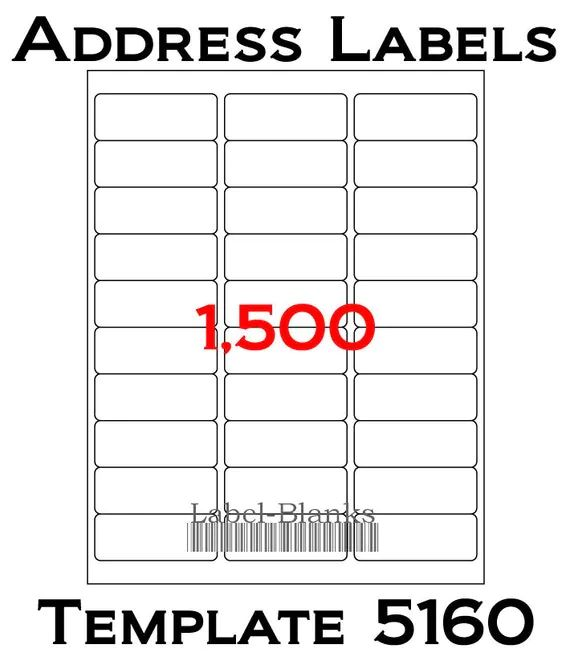 avery mailing labels 5160