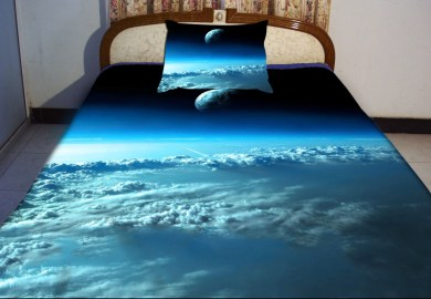 Black And Dark Blue Bedding