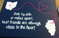 Hand Painted Side by side or miles apart best by TNCraftyLife