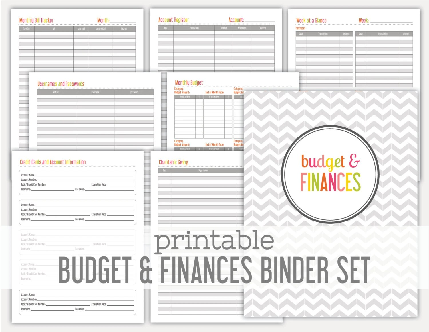 Popular items for printable budget on Etsy