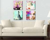 Retro Fashion Canvas Wall Art Fashion Illustration by ...