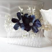 items similar navy blue flower