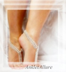 Eastern Chain Silver Barefoot Sandals Anklet