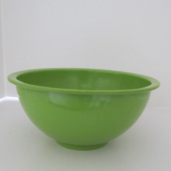 Vintage Large Apple Green TEXAS WARE BOWL Melamine Plastic