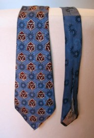 Vintage 1950s Necktie - Satin Rayon in Blue