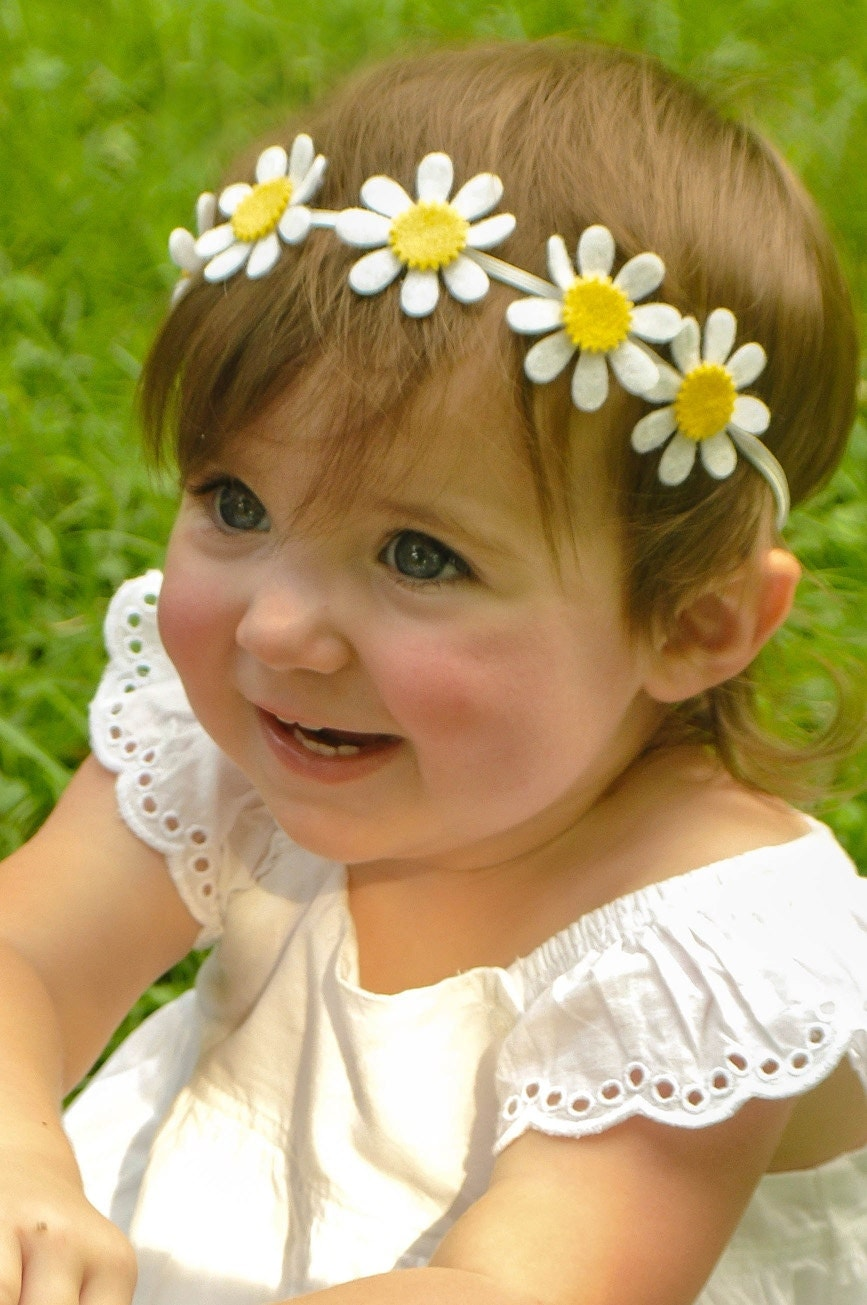Felt Flower Headband Daisy Headband Newbornbabytoddler