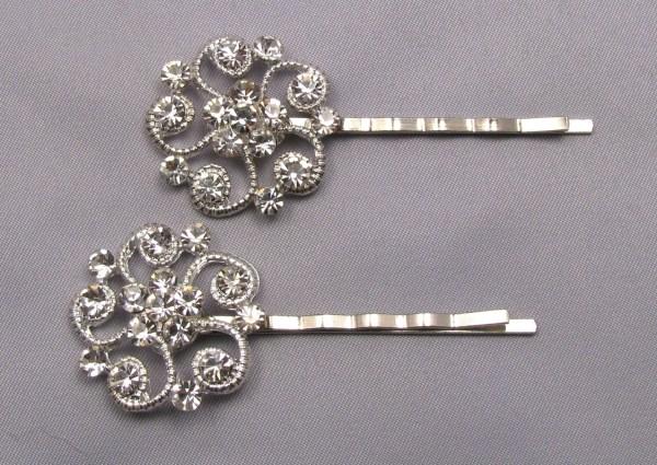 Rhinestone Bobby Pins Crystal Hair Decorative Jeweled