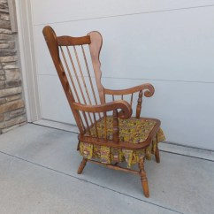 Mid Century Rocking Chair Nursery Fishing For Heavy Person Wood Robinson Furniture Manufacturing Inc