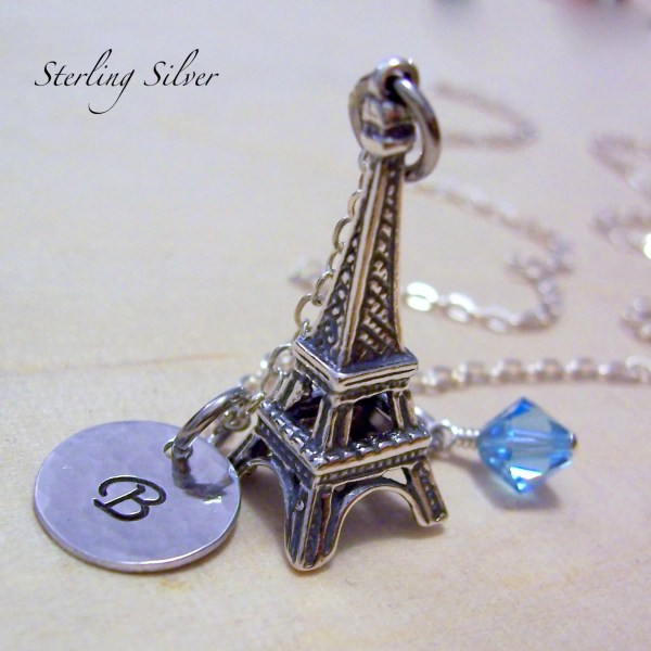 Sterling Silver Eiffel Tower Charm Necklace