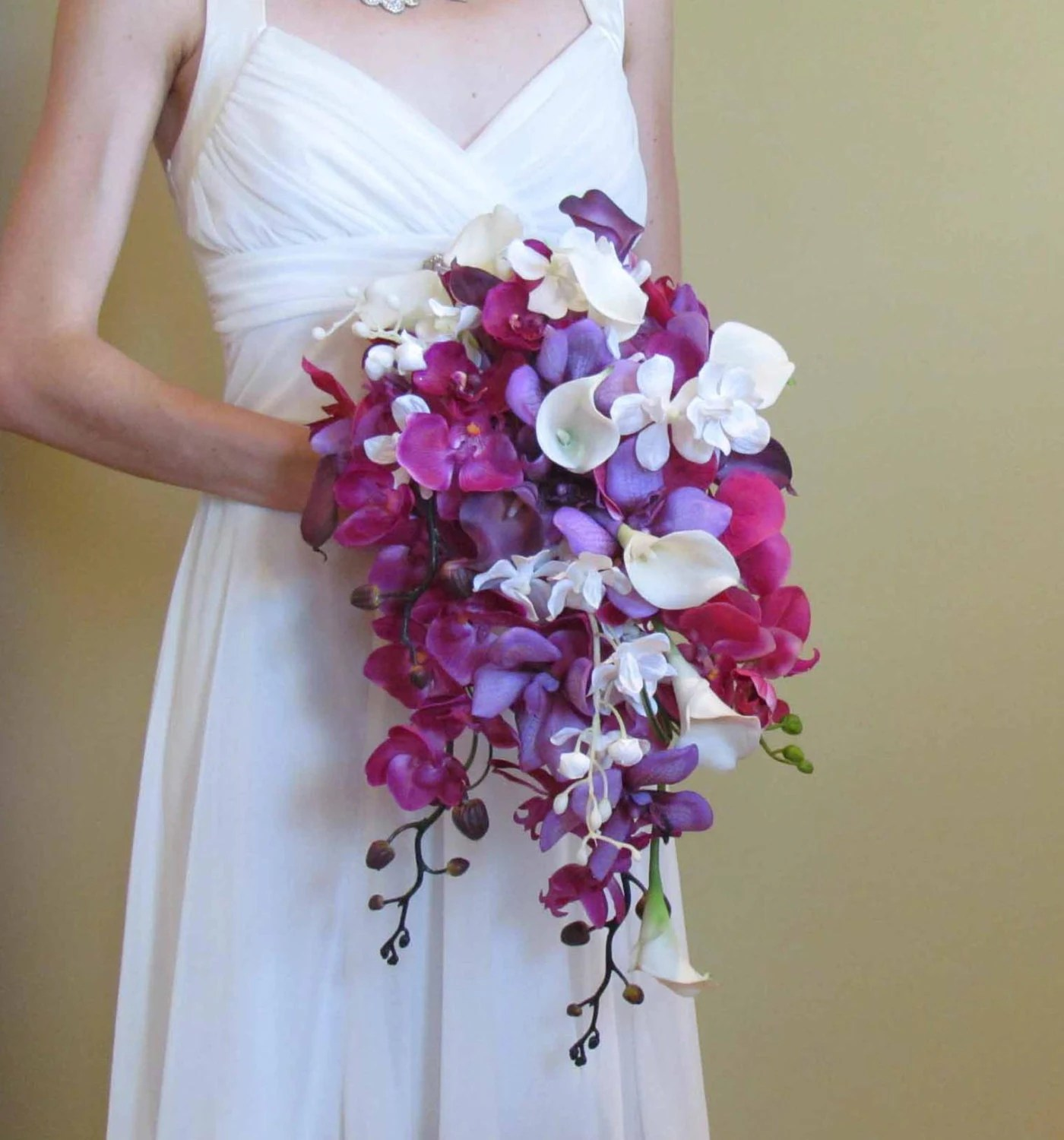 Purple Orchid & Calla Lily Bouquet for your Beach Wedding - justanns