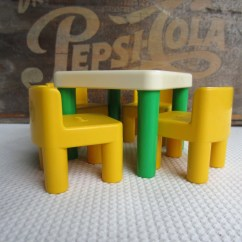 Little Tikes Chairs Ice Cream Parlor Wood Vintage Table And Green Yellow
