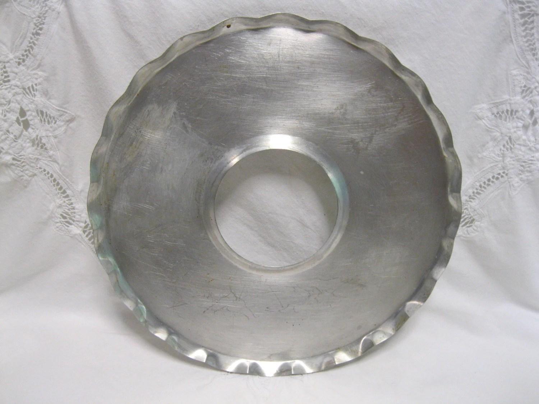 Vintage Aluminum Pie Drip Pan Tray Baking Kitchen Farmhouse