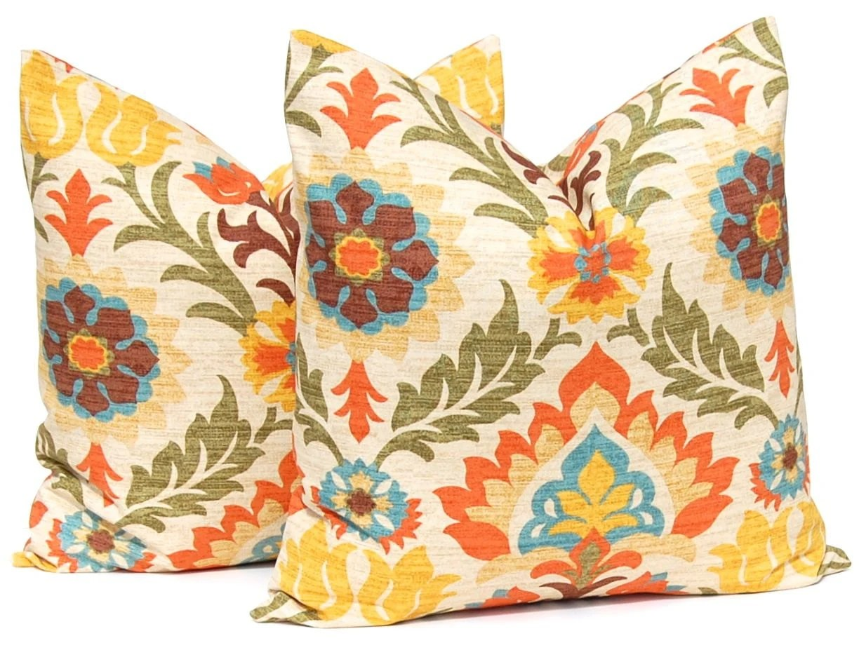Fall Pillows Decorative Throw Pillow Cover One by