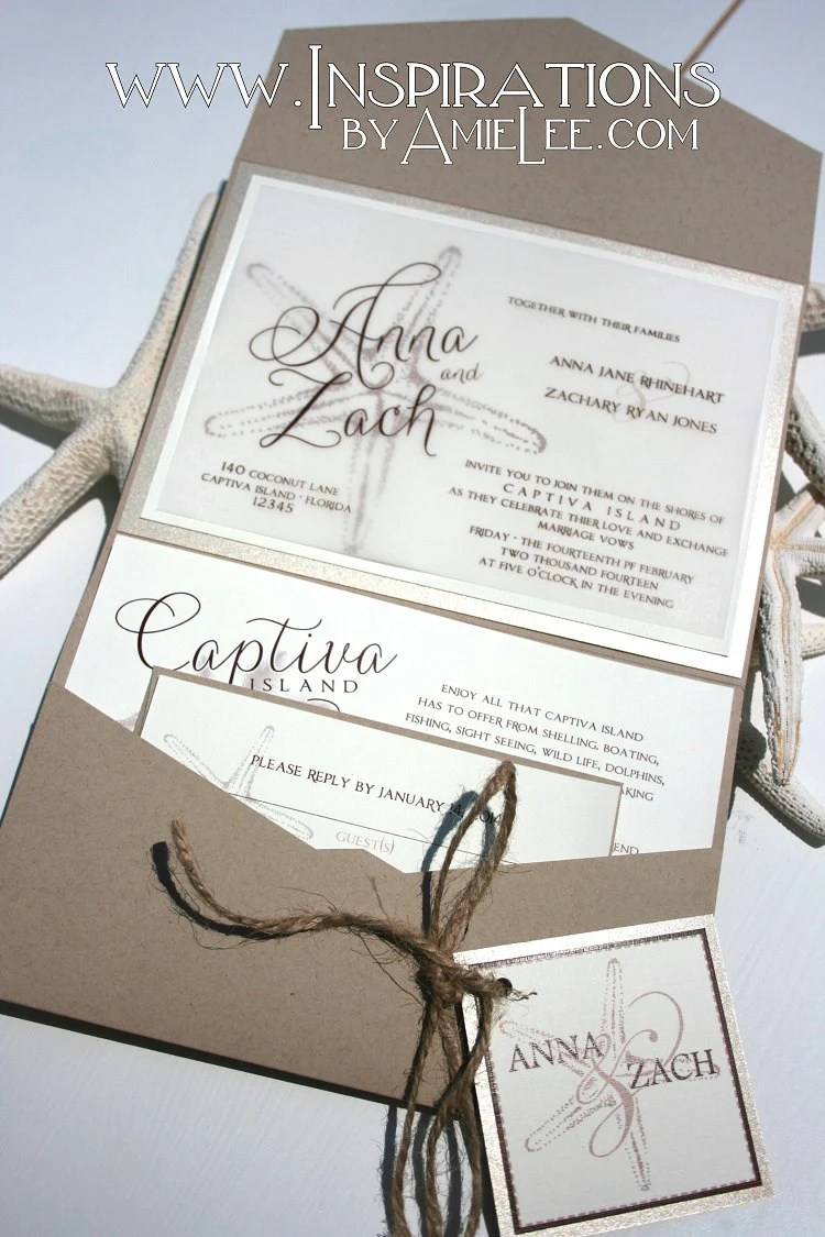 Rustic Beach Wedding Invitations Wedding Invitations