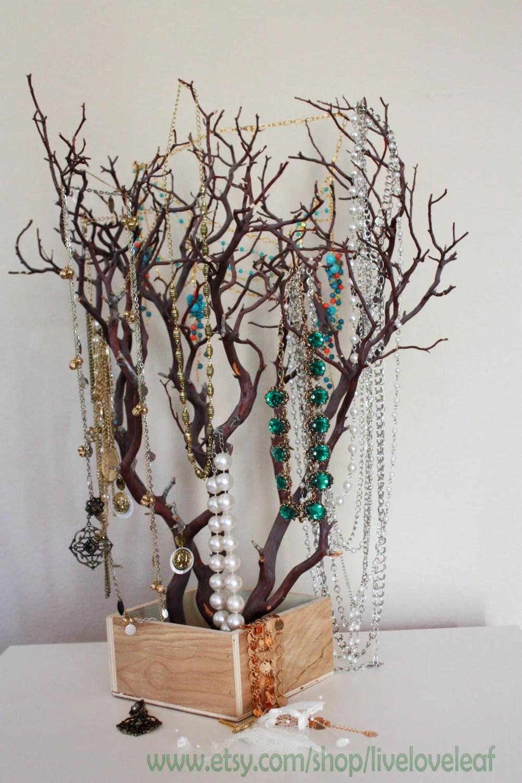 Natural Manzanita Branch Jewelry Tree Jewelry Organizer