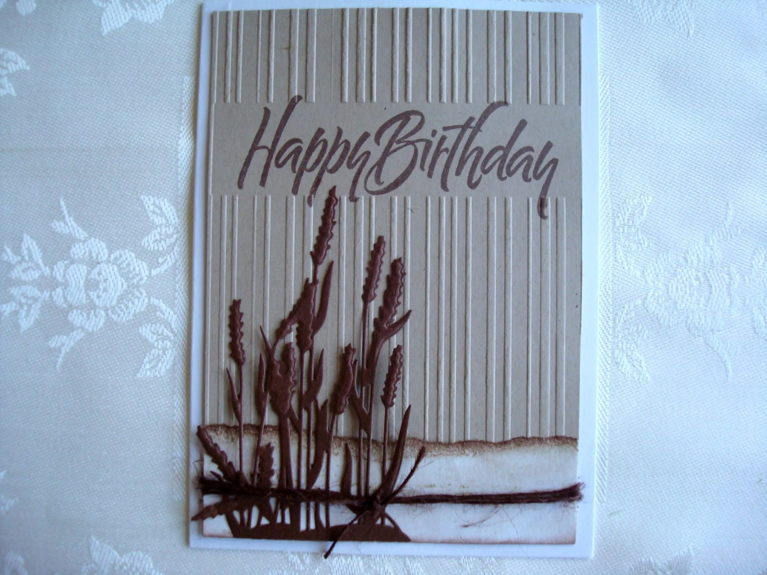 Items Similar To Masculine Happy Birthday Handmade Card