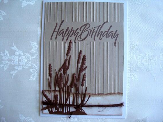 Items Similar To Masculine Happy Birthday Handmade Card