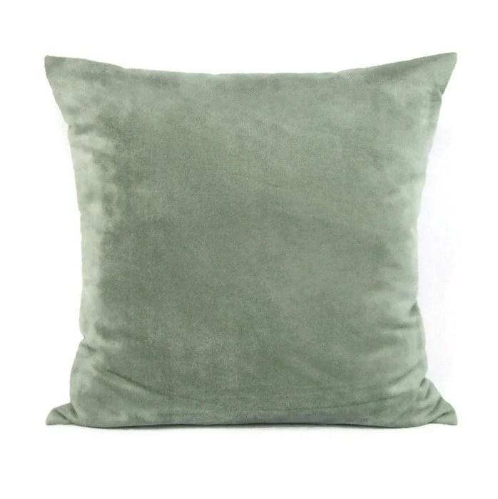 Seafoam Suede Pillow Cover Decorative Throw Accent Toss Sofa