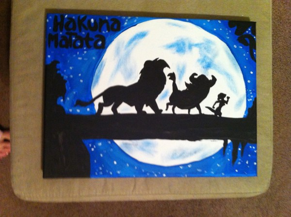 Disney' Lion King Inspired 9x12 Canvas Painting